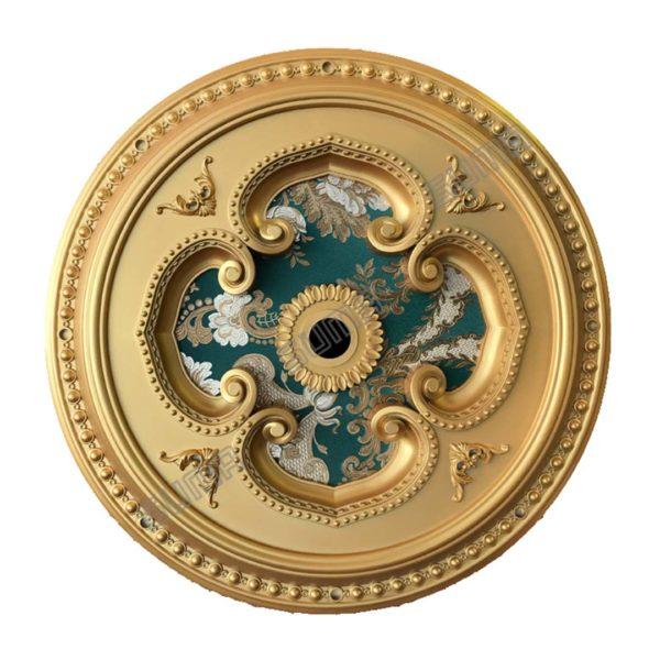 ORNAMEN PLAFON ROUND GOLD
