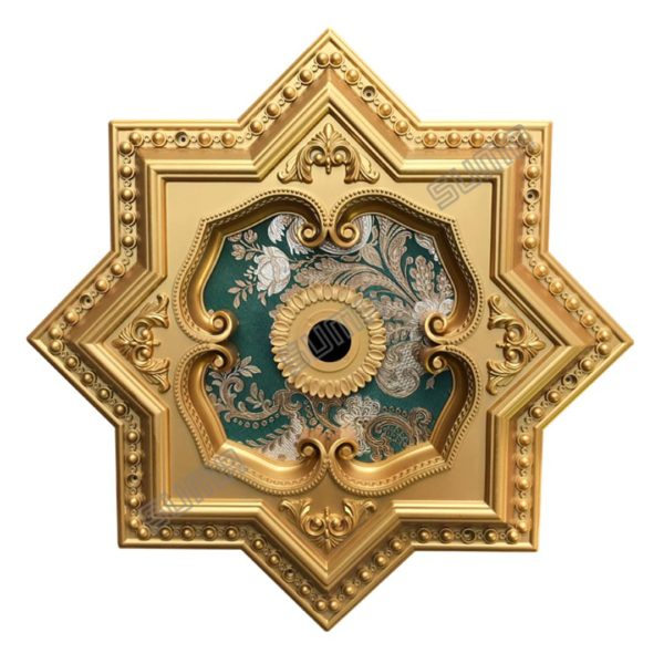 ORNAMEN PLAFON STAR GOLD