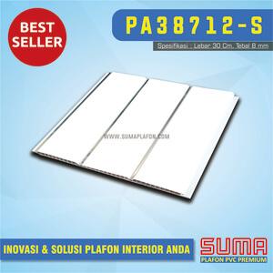 Plafon PVC Putih Glossy Drain Line Silver