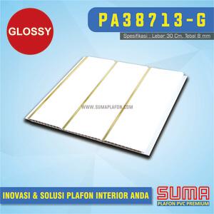 Plafon PVC Putih Drain Line Gold