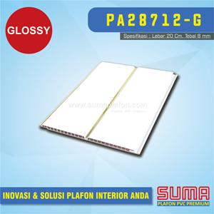 Plafon PVC Suma Putih Drain Emas