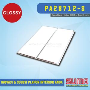 Plafon PVC Putih Line Silver